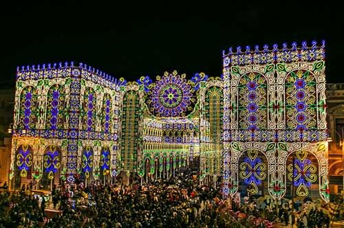 Festa di santa domenica a scorrano capitale delle luminarie for Luminarie puglia